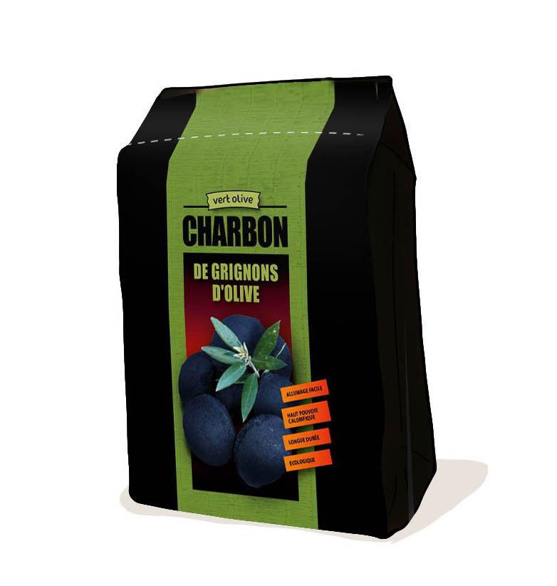 Packaging – Charbon de grignons d'olive