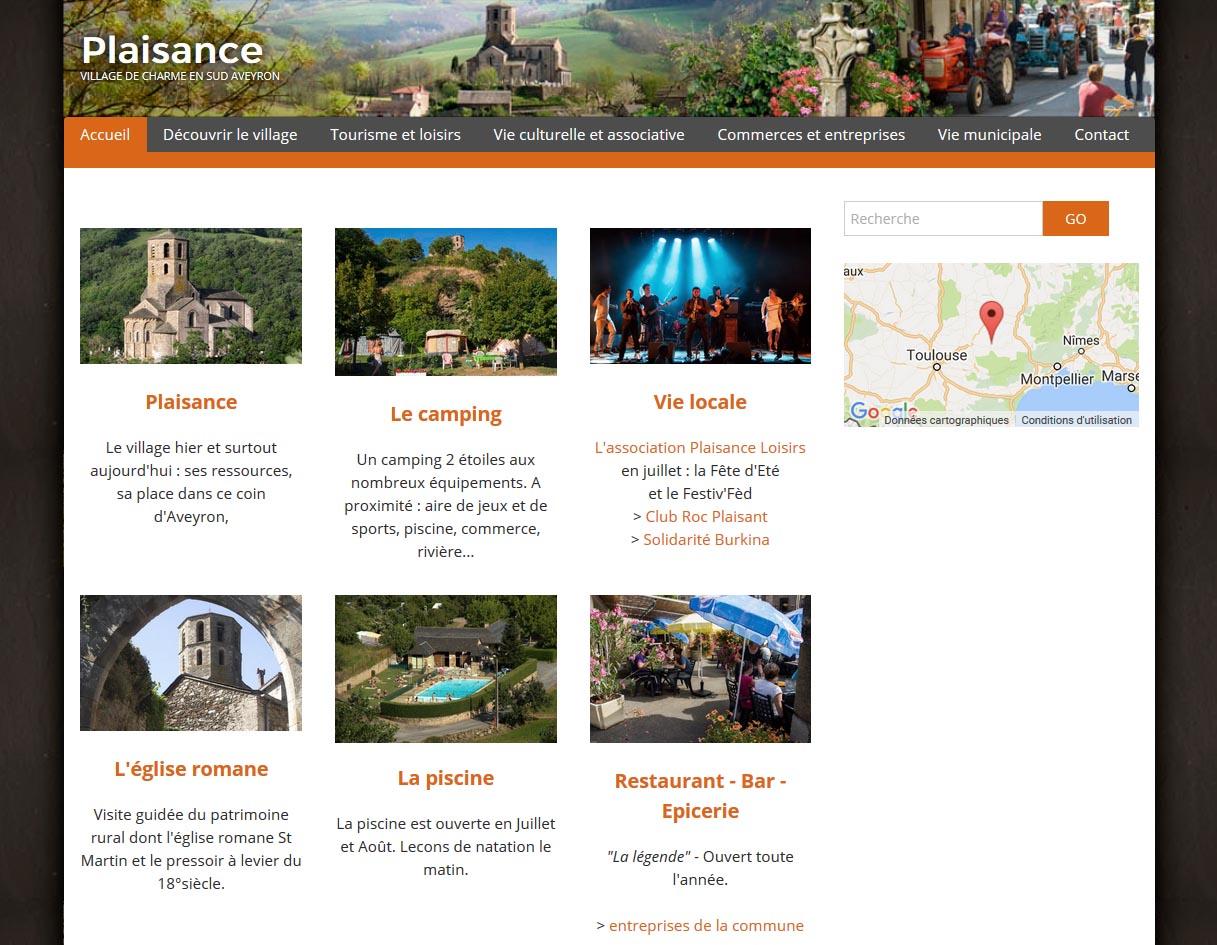 Création site internet Mairie de Plaisance