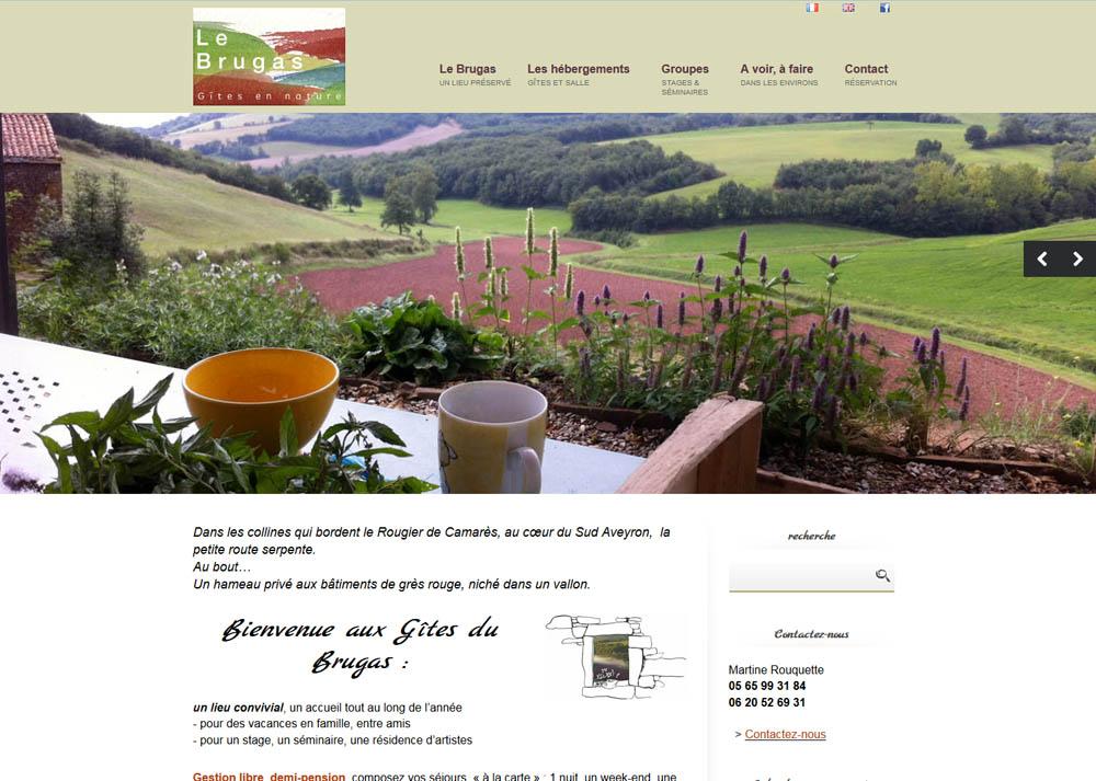 Site internet Gites du Brugas