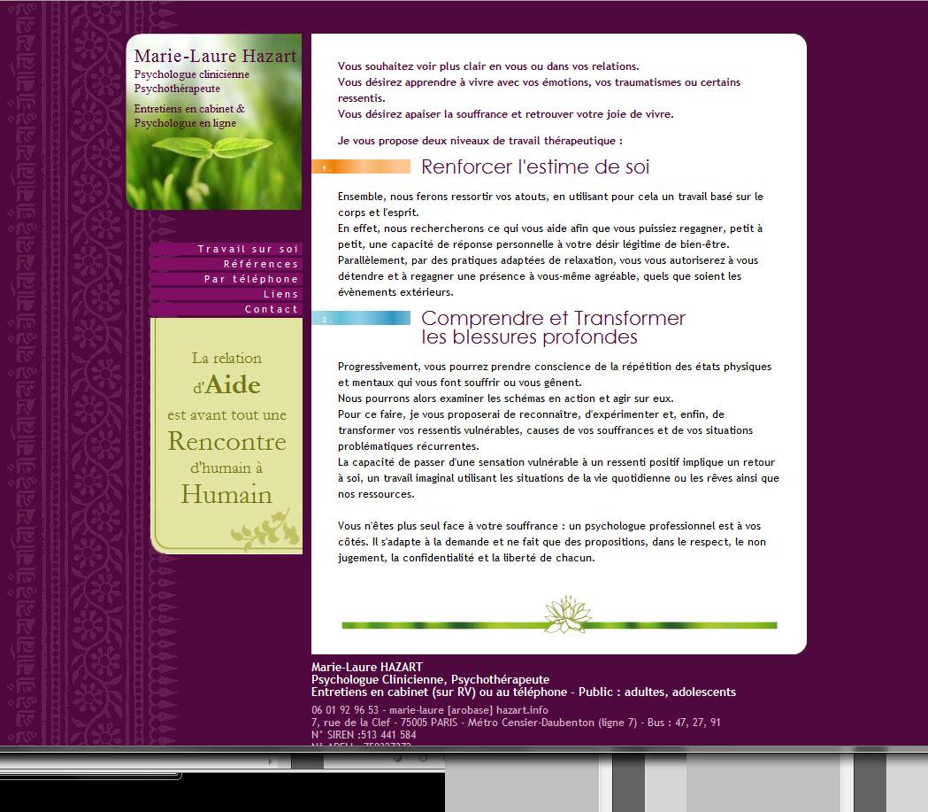 Site internet Psychologue