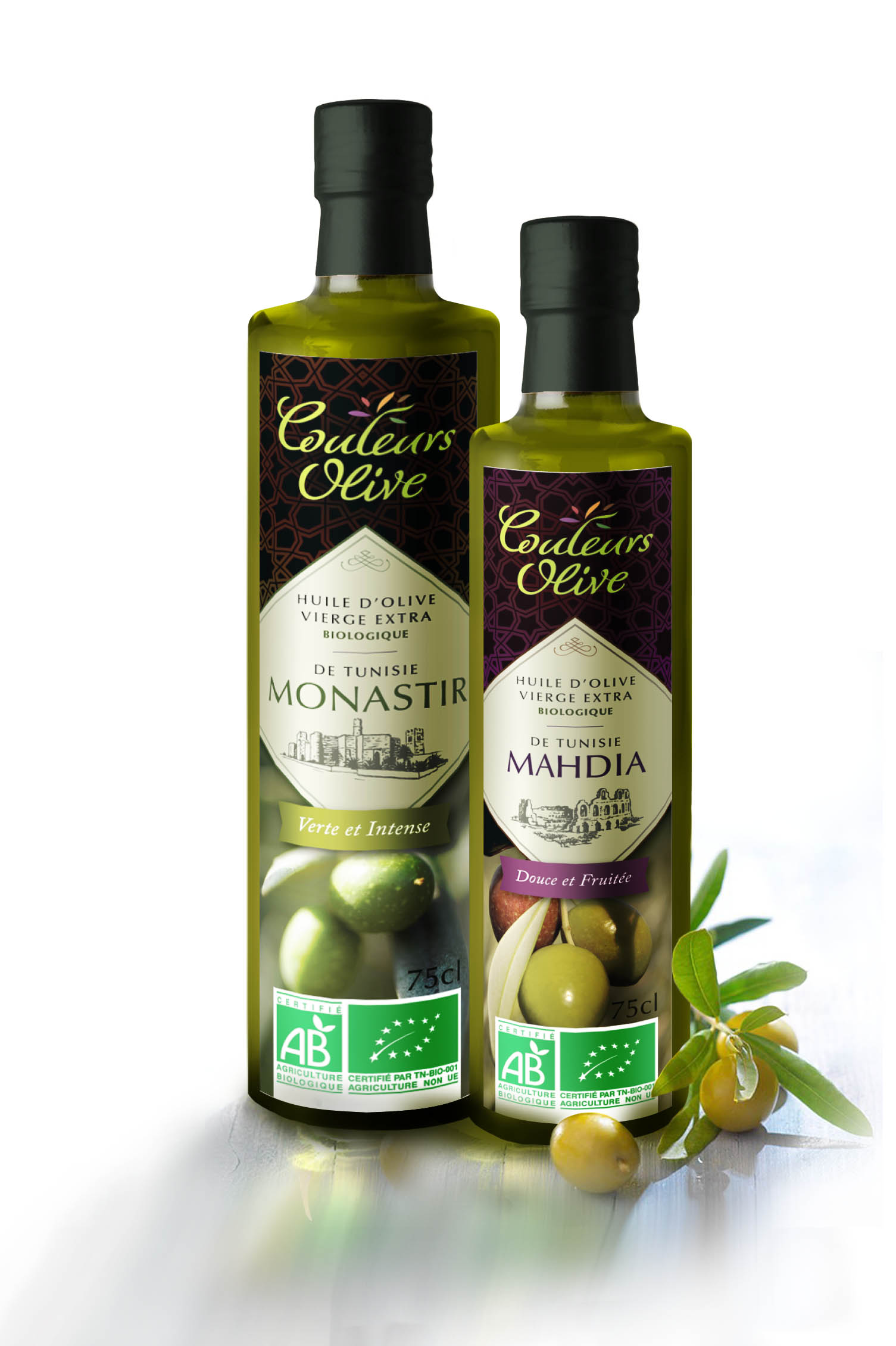 Packaging – gamme d'huiles d'olives