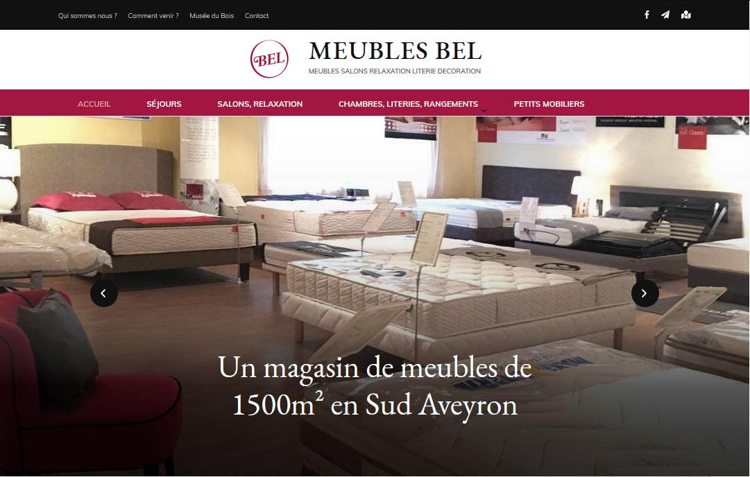 Création du site internet du magasin Meubles Bel